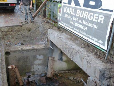 Teilsanierung der Schobbachbrücke, Gundelfingen